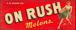 #ZLC352 - On Rush Pinup Melons Crate Label