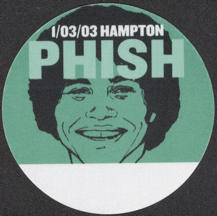 #MUSIC737 - Green PHISH OTTO Cloth Backstage Pass from the 2003 Hampton Concert - Pictures Epstein from Welcome Back Kotter