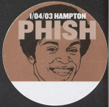 #MUSIC738 - Brown PHISH OTTO Cloth Backstage Pass from the 2003 Hampton Concert - Pictures Washington from Welcome Back Kotter
