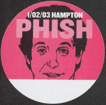 #MUSIC739 - Red PHISH OTTO Cloth Backstage Pass from the 2003 Hampton Concert - Pictures Horshack from Welcome Back Kotter