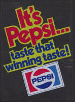 #SOZ060  - Pepsi Cola Door/Window Decal - Taste That Winning Taste