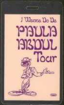 #MUSIC466  - 1989 Paula Abdul Laminated Backstage Pass from the I Wanna Do Da Tour