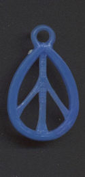 #MSH032 - Late 1960s Peace Symbol Gumball Charm