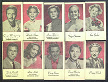 #ZZA178 - Complete Set of 10 Different Peerless Weighing Machine Movie Star Cards