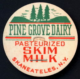 #DC173 - Pine Grove Dairy Pasteurized Skim Milk Bottle Cap