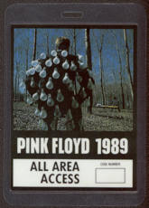#MUSIC366  - 1989 Pink Floyd Laminated Backstage Pass from the Another Lapse European Tour