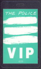 #MUSIC357  - 1983 The Police Laminated Backstage Pass from the Synchronicity Tour
