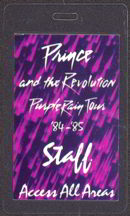 #MUSIC264  - 1984-85 Prince Laminated Backstage Pass from the Purple Rain Tour - Purple Background