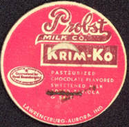 #DC112 - Probst Milk Company Dairy Krim-Ko Chocolate Milk Bottle Cap
