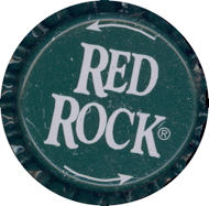 "#BC063 - Group of 10 Green ""Red Rock"" Soda Caps"