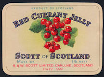 #ZBOT171 - Red Currant Jelly Jar Label