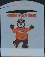 "#SOZ105 - The ""Great Root Bear"" A & W Root Beer Mascot Advertising Bib - As low as 50¢ each"