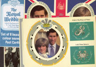 #CH243 - Packaged Set of eight 1981 Royal Wedding Souvenir Postcards - Lady Diana