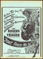 """#CH326-01  - Roy Rogers """"Don't Fence Me In"""" Movie Poster Broadside"""