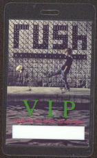 #MUSIC394  - 1991 Rush Laminated Backstage Pass from the Roll the Bones Tour - Boy Kicking Skull