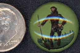 #BEADS0434 - 18mm Davy Crockett Reverse Painted Glass Intaglio - As low as $2 each
