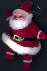 #HH153 - Good Quality Hand Painted Santa Clause Ornament with String