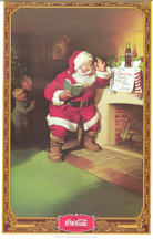 #CC227 - Coca Cola Unused 1974 Large Calendar with Santa on Cover