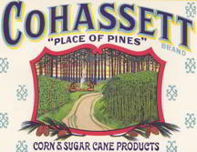 #ZLCA082 - Huge Cohassett Syrup Pail Label