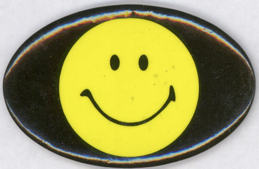 #BEADS0028 - Vintage Very Large Smiley Face Bead/Decoration