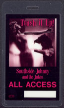 #MUSIC502 - 1983 Southside Johnny and the Jukes laminated backstage pass from the Trash it Up Tour