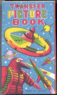 #TY387 - Transfer Picture Book with Outer Space Illustration - Made in Japan