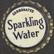 #BC066 - Group of 10 Cork Lined Carbonated Sparkling Water Soda Caps