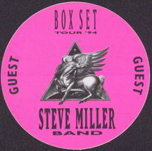 #MUSIC176  - Round 1994 Steve Miller Band Tour OTTO Cloth Backstage Pass