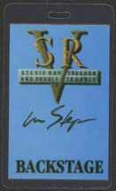 #MUSIC486 - Blue 1989 Stevie Ray Vaugan Laminated Backstage Pass from The In Step Tour
