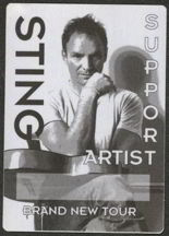 #MUSIC196  - Rectangular 1999 Sting Brand New Tour OTTO Backstage Pass