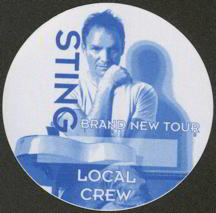 #MUSIC194  - Round 1999 Sting Brand New Tour OTTO Backstage Pass