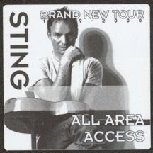 #MUSIC298  - Square 1999 Sting Brand New Tour OTTO Backstage Pass