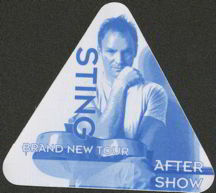 #MUSIC195  - Triangular 1999 Sting Brand New Tour OTTO Backstage Pass