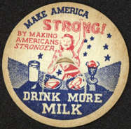 #DC123 - Make America Strong WWII Milk Bottle Cap