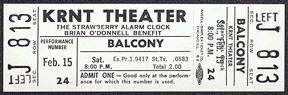 #MUSIC350 - 1969 The Strawberry Alarm Clock Ticket from the KRNT Theater