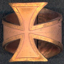 #BEADS0555 - Thick Heavy Copper Surfer's Cross Ring