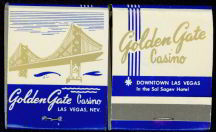 #TM071 - Full Book of  front cover striker Golden Gate Casino Matches