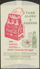 #CC199 - Coca Cola Dry Server with a large carton of Coke and Sandwich Tray