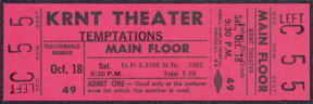 #MUSIC349 - 1968 The Temptations Ticket from the KRNT Theater