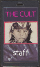 #MUSIC479 - 1991 The Cult Laminated Backstage Pass from the Ceremonial Stomp Tour