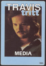 #MUSIC714 - Travis Tritt OTTO Cloth Backstage Pass from the 1991 It's All About to Change Tour