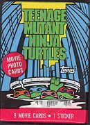 #ZZA051 - 1990 Teenage Mutant Ninja Turtle 1 Topps Waxed Movie Card Pack