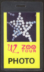 #MUSIC414  - U2 1992 Zoo TV Tour Laminated Backstage Pass