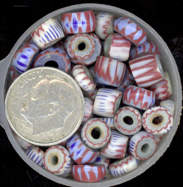 #BEADS0010 - Very Old Venetian Awala Chevron Trading Beads