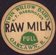 #DC114 - Twin Willow Dairy Raw Milk Bottle Cap