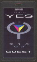 #MUSIC395  - Laminated 1984 Yes 90125 Backstage Pass