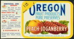 #ZBOT057 - Oregon Peach Loganberry Jar Label