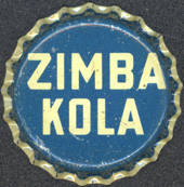 #BC094 - Scarce Very Old Zimba Kola Cork Lined Soda Bottle Cap