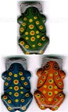 #TY014 - Group of 3 Different Tin Frog Clickers