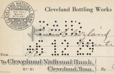 #ZZZ056 - Early Cleveland Bottling Works Check